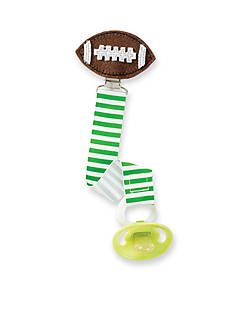 Mud Pie Stripe Football Pacifier Clip