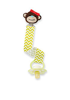 Mud Pie Chevron Print Monkey Pacifier Clip