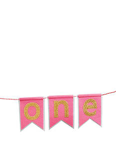 Mud Pie Glitter 'One' High Chair Banner