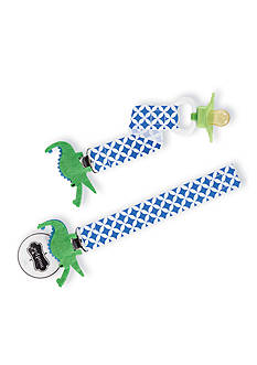 Mud Pie Geometric Alligator Pacifier Clip