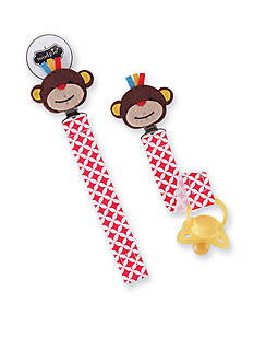 Mud Pie Geometric Monkey Pacifier Clip