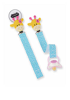 Mud Pie Geometric Giraffe Pacifier Clip