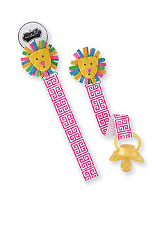 Mud Pie Geometric Lion Pacifier Clip