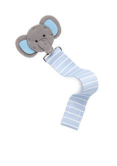 Mud Pie Stripe Elephant Pacifier Clip