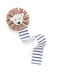 Mud Pie Stripe Lion Pacifier Clip
