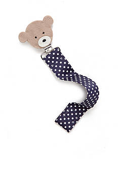 Mud Pie Polka Dot Bear Pacifier Clip