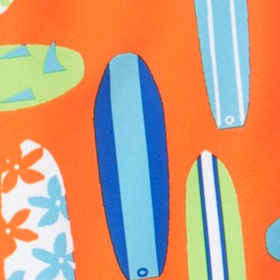 Toddler Boy Swimwear: Orange Surfs J Khaki™ Swim Trunks Toddler Boys
