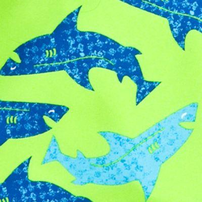 Baby & Kids: J Khaki™ Red, White & Cute: Lime Sharks J Khaki™ Printed Swim Trunks Toddler Boys