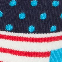 Baby Boy Socks: Blue/Red Happy Socks 6-Pack Multi-Print Socks Box Set