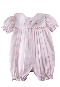 Petit Ami Pleated Romper - Newborn
