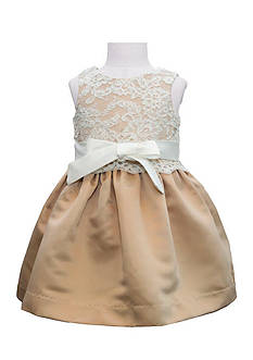 Us Angels Flower Girl Lace Overlay Satin Dress- Infant Girls