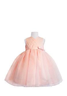 Us Angels Flower Girl Satin And Point D'Esprit Ballerina Dress-Infant Girls