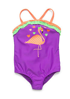 J Khaki™ Flamingo One Piece Swimsuit Toddler Girls