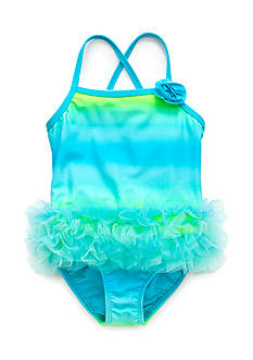 J Khaki™ Ombre Tutu Swimsuit Toddler Girls