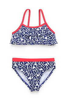 J Khaki™ 2-Piece Heart Bikini Toddler Girls