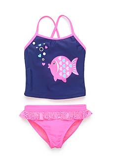 J Khaki™ 2-Piece Fish Tankini Toddler Girls