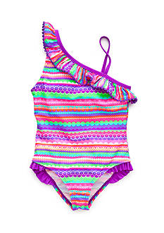 J Khaki™ Lollipop Striped Swimsuit Toddler Girls