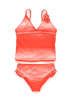 J Khaki™ 2-Piece Ombre Ruffle Tankini Toddler Girls