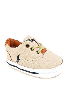 Ralph Lauren Childrenswear Vaughn Beige Canvas Sneaker - Online Only