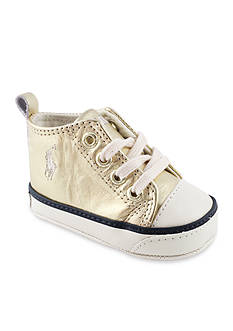 Ralph Lauren Childrenswear High-Top Gold Sneakers