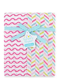 Nursery Rhyme 2-Pack Patterned Recieveing Blankets