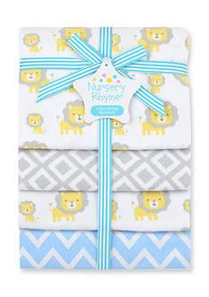 Nursery Rhyme 4-Pack Flannel Receiving Blankets