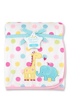 Nursery Rhyme Plush Blanket Giraffe