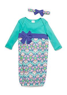 Nursery Rhyme 2-Piece Gown and Headband Set