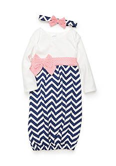 Nursery Rhyme Chevron Gown with Headband Baby/Infant Girl