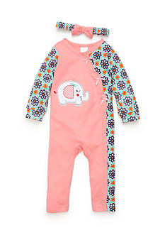 Nursery Rhyme Elephant Coverall Infant/Baby Girls