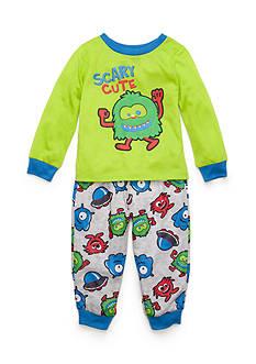 J. Khaki Graphic Scary Cute Monster Pajama Set Toddler Boys