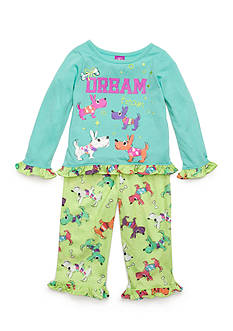 J. Khaki Graphic 'Dream Team' Pajama Set Toddler Girls
