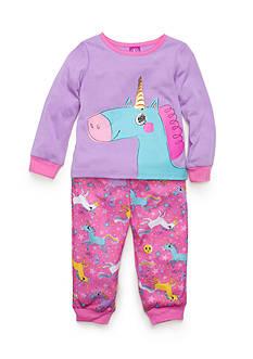 J. Khaki Graphic Unicorn Pajama Set Toddler Girls