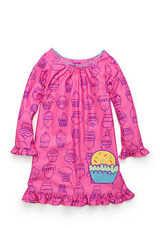 J. Khaki Graphic Cupcake Night Gown Toddler Girls