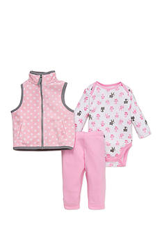 best beginnings by Little Me Kitty Microfleece Vest Set