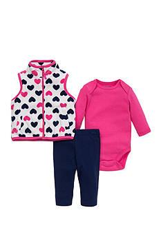 best beginnings by Little Me Heart Microfleece Vest Set
