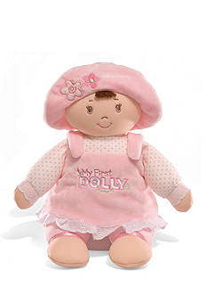 Gund Brunette My First Dolly Plush Doll