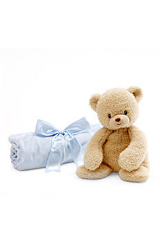 Gund Teddi & Blue Blanket Set