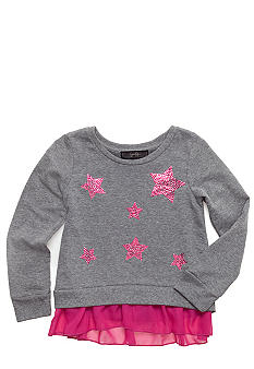 Jessica Simpson Fleece Chiffon Top Toddler Girls