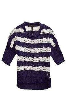 JK Indigo Striped Hi Low Sweater Toddler Girls