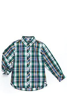 Kitestrings Plaid Button Front Woven Toddler Boys