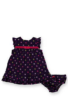Hartstrings Puppy Love Stretch Corduroy Dress and Panty Set