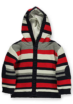 Kitestrings® Stripe Hooded Cardigan Sweater