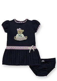 Hartstrings Beary Cute Sweater Dress and Panty Set