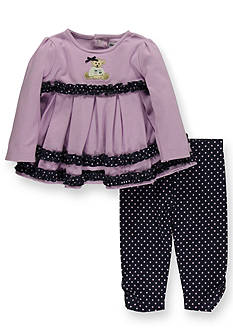 Hartstrings Beary Cute Knit Tunic and Pants Set