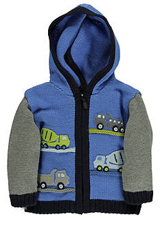 Kitestrings® First Truck Hooded Zip Front Cardigan Sweater