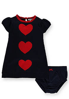 Hartstrings Heart Pattern Sweater Dress and Panty Set