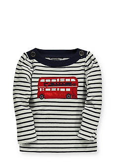 Hartstrings Double Decker Bus Applique Knit Top