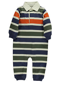 Kitestrings® Multi Stripe Long Sleeve Polo Romper