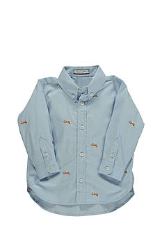 Kitestrings® Fox Hunt Woven Long Sleeve Button Down Shirt